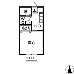 ファミール竹内 C[203号室]の間取り
