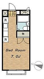 エステートピアアオキII[2階]の間取り