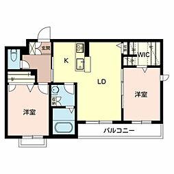 グランシャリオ西神戸[A302号室]の間取り