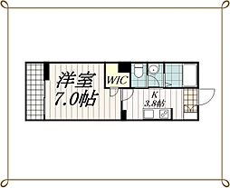 JR総武線 西千葉駅 徒歩3分の賃貸マンション 1階1Kの間取り