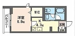 JR武蔵野線 三郷駅 徒歩5分の賃貸アパート 3階1Kの間取り
