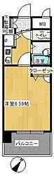 ライオンズマンション平尾第2[702号室]の間取り