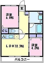 YF宮山台ガーデン[2階]の間取り
