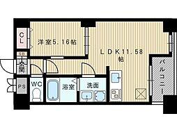 ノルデンハイム江坂[7階]の間取り