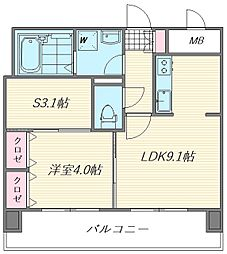 ロイヤルステージ吉塚[3階]の間取り