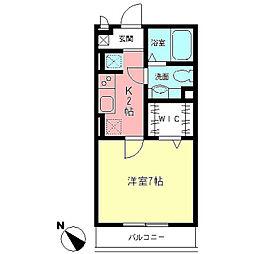 モナリエ北新横浜[102号室]の間取り