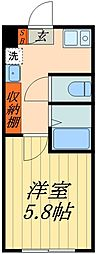 JR京浜東北・根岸線 蕨駅 徒歩9分の賃貸マンション 1階1Kの間取り