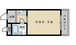 OMレジデンス上新庄駅前[1階]の間取り
