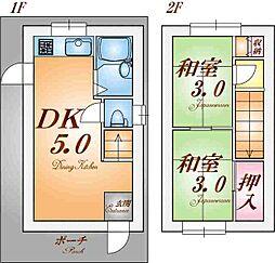 [一戸建] 兵庫県神戸市須磨区中島町2丁目 の賃貸【/】の間取り
