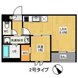 REGALEST 箱崎宮前[1階]の間取り