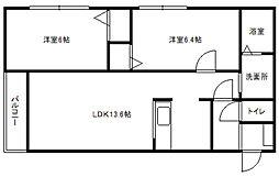 北海道札幌市豊平区美園七条3丁目の賃貸マンションの間取り