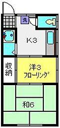 藤ハイツ[1号室]の間取り