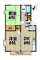 神奈川県鎌倉市台1丁目の賃貸アパートの間取り