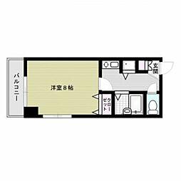 福岡県福岡市中央区高砂2丁目の賃貸マンションの間取り