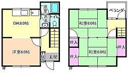 [一戸建] 大阪府枚方市桜町 の賃貸【/】の間取り
