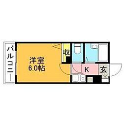 シャトー美野島[0703号室]の間取り