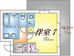 クレアドル須磨[3階]の間取り