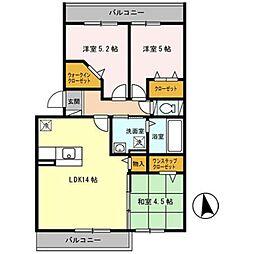 Osaka Metro御堂筋線 新金岡駅 徒歩7分の賃貸アパート 2階3LDKの間取り