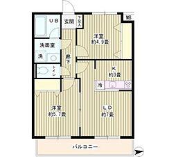 東京都三鷹市牟礼1丁目の賃貸マンションの間取り