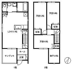 [一戸建] 福岡県福岡市東区和白東3丁目 の賃貸【/】の間取り