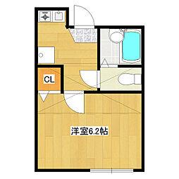 JR総武線 小岩駅 徒歩6分の賃貸アパート 3階1Kの間取り