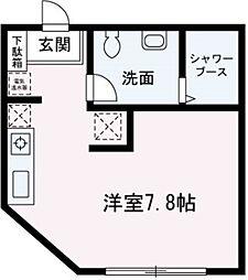埼玉県朝霞市浜崎3丁目の賃貸マンションの間取り
