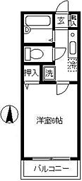 ドミール武蔵小杉[103号室]の間取り