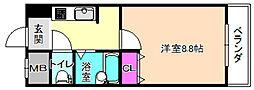 フロンティア長尾[2階]の間取り