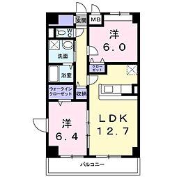 神奈川県横浜市港北区高田西1丁目の賃貸マンションの間取り