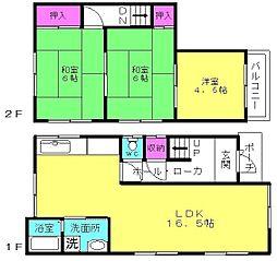 [一戸建] 兵庫県加古川市平岡町新在家 の賃貸【/】の間取り