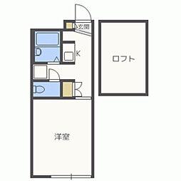 レオパレスAKI[203号室]の間取り