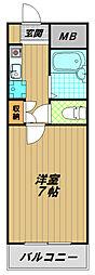 スマ扇コーポ[1階]の間取り