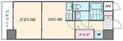 ピュアドームスタシオン箱崎[402号室]の間取り
