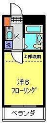 坂本ハイツ[202号室]の間取り