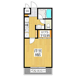エスポワール扇[2階]の間取り