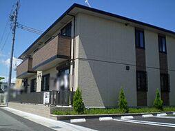 愛知県岡崎市坂左右町字堤上の賃貸アパートの外観