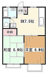 リバーサイドハイツI[2階]の間取り