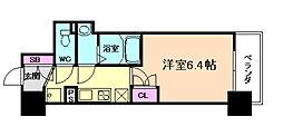 パークナードフィット新梅田リント 3階1Kの間取り