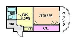 ラ・サルビア桜塚[3階]の間取り