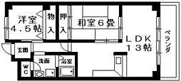 ESPO栗東[4階]の間取り