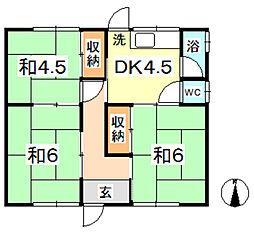 [一戸建] 岡山県倉敷市連島2丁目 の賃貸【/】の間取り