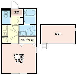 シティハイツ中野島[1階]の間取り