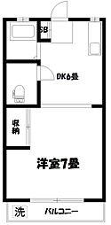 第16島田マンション[1階]の間取り