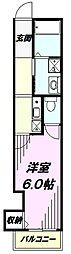 JR横浜線 八王子みなみ野駅 徒歩12分の賃貸アパート 2階1Kの間取り