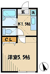 JR南武線 中野島駅 徒歩7分の賃貸アパート 1階1Kの間取り