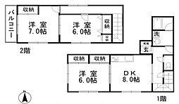 [タウンハウス] 岡山県総社市中原 の賃貸【岡山県 / 総社市】の間取り