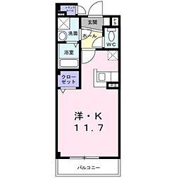 愛知県岡崎市井田新町の賃貸マンションの間取り
