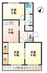 愛知県豊田市曙町2丁目の賃貸マンションの間取り