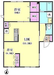 (仮称)南馬込3丁目プロジェクト 西棟[101号室]の間取り