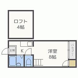 サクセス南福岡[203号室]の間取り